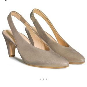 Paul Green🍁🍂Sling pumps beige metallic